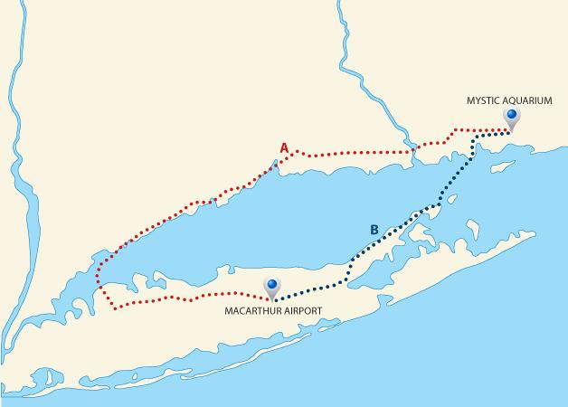 Long Island Ferry Map CSF | Cross Sound Ferry